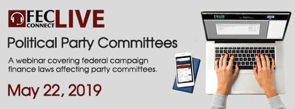 Webinar for political party committees