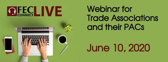 Trade Association PAC Webinar Banner