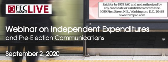 Independent expenditure webinar header
