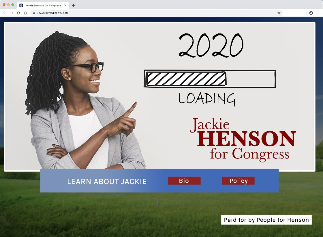 Disclaimer example of a federal candidate's website