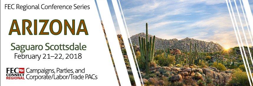 FEC regional conference in Arizona, Saguaro Scottsdale, February 21-22, 2018