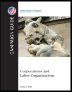 Thumbnail cover image from the FEC Campaign Guide for Corporations and Labor Organizations, October 2017