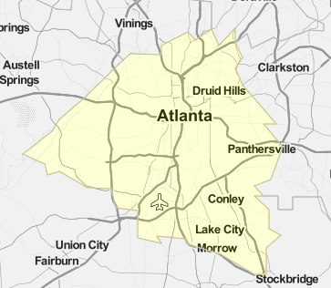 Map of Georgia's 5th Congressional District (2020)