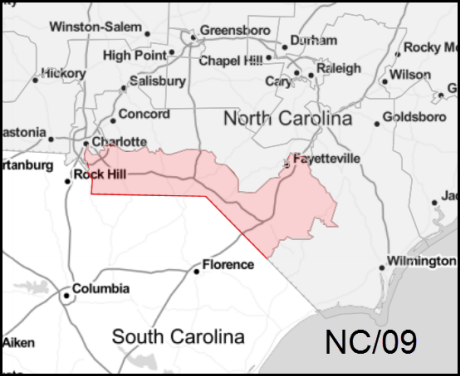 North Carolina's 9th congressional district map (2019)