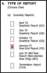 Type of report box