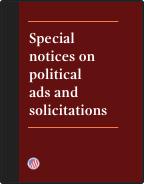 Special notices brochure cover